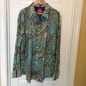 Robert Graham Paisley 3XL. Exclusive of Decoration